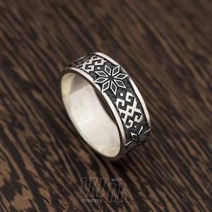 Кольцо Алатырь - серебро