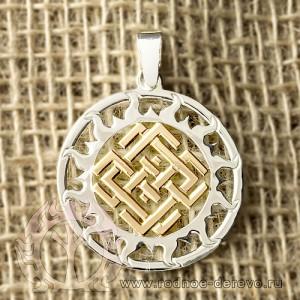 Оберег символ Белбога в Солнечном круге